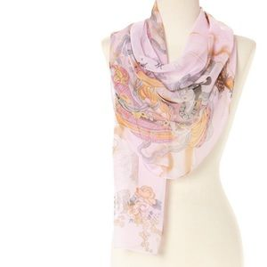 Asian Motif Lightweight Scarf